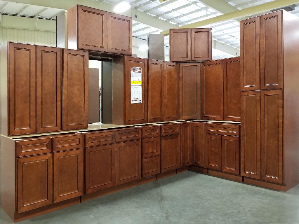 York Cherry Kitchen Cabinet Set