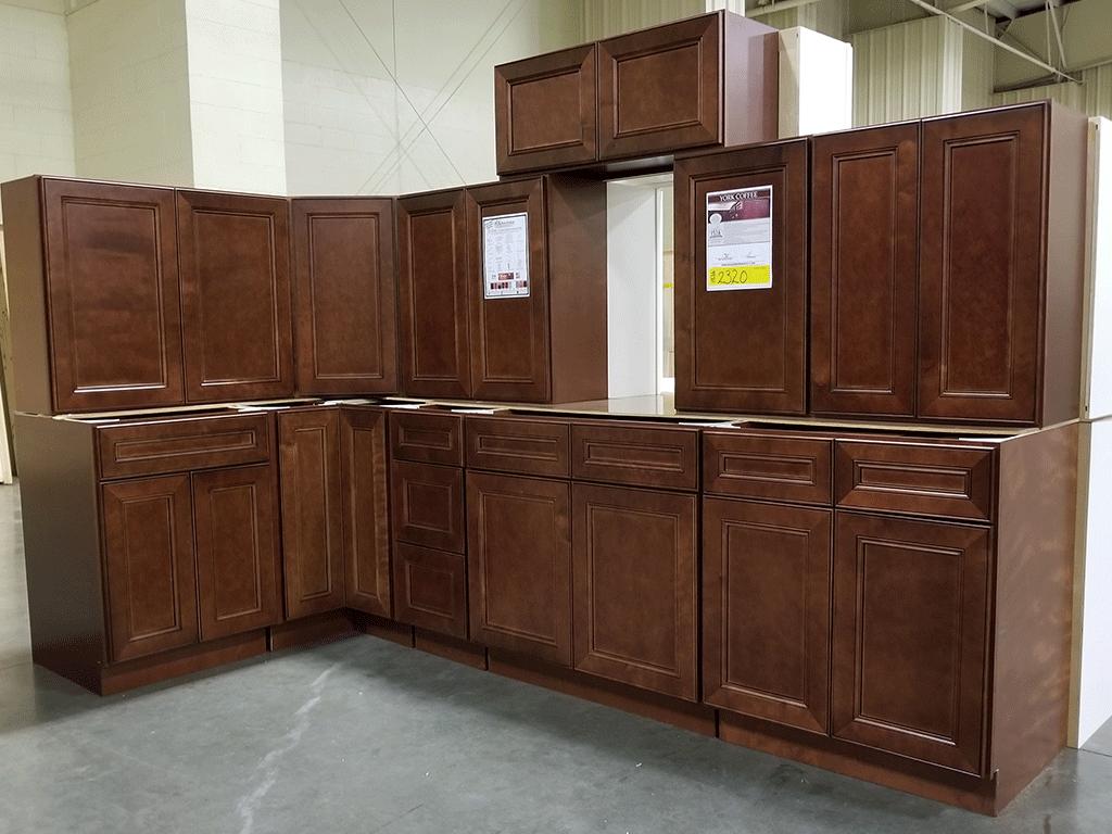 York Coffee Kitchen Cabinet Set